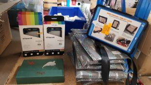 "(R6F) Tech Accessories. 9 Items : 6 X Seymac iPad Case 9.7"" Full Body Rugged Shock/Drop Proof Silic"