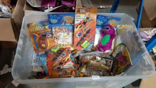 (R4L) Toys. Contents Of Container. A Quantity Of Mixed Kids Toys To Include Disney Animal Friends.