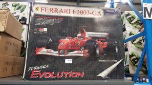 (R4M) Toys. 1 X Nikko Ferrari F2003-GA Formula Revolution RC System Car. (New – Box Slight Damage)