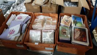 (R4B) Stationary. Contents Of 3 Boxes : A Quantity Of Mixed Style Greeting Cards. To Include Weddin