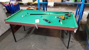 Sport. 1 X Stephen Hendry Pot Black 6ft Challenger Snooker Table (Retro Barn Find). Mahogany Effect