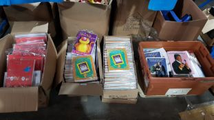 (R4G) Stationary. Contents Of 4 Boxes. A Quantity Of Talking Greeting Cards. To Include League Of G