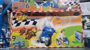(R4L) Toys. 1 X Lexibook Junior Super Moto TV Arcade