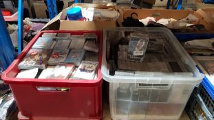 (R6B) Audio. Contents Of 2 Containers : A Quantity Of Mixed Original Music Cassette Tapes To Includ