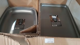 (R5H) Approx. 380 X Non Stick Roasters / Baking Trays (190 X 38cm Roaster RRP £3 Each & 190 X 40cm