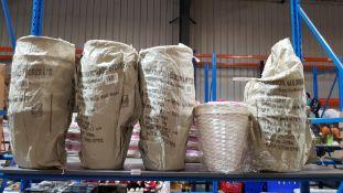 (R6E) Household. 24 X Wilko White Split Wood Waste Bin (New)