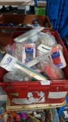 (R4L) Mixed Lot. Contents Of Container. Mixed Household / Jewellery Packs To Include Combs, Wool/Ny