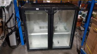 (R4O) Kitchen. 1 X Chiller Cabinet Black (91 x 86 x 46xm) No Plug