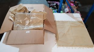 (R4B) Homeware. Approx. 45 X Decorative Natural Colour Cushion Covers (5 X Per Sealed Pack) New