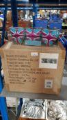 (R4B) Christmas. 21 X Christmas Wonderland 3 Union Jack Heart Packs (Soft Cushion Hanging Decoratio