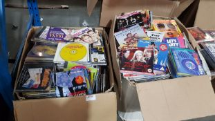 (R4K) Audio / Visual. Contents Of 2 Boxes : A Quantity Of Mixed CDs. To Include Clubbers Guide, Bri
