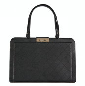 Chanel Black Quilted Calfskin Leather Large Label Click bidping Tote