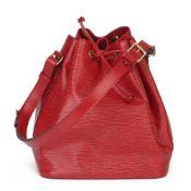Louis Vuitton Red Epi Leather Vintage Petit Noé