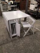 folding dining set gery