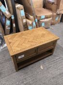 parquet real oak coffee table