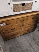 albina 7 drawer chest pine