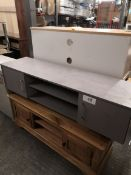wide tv unit grey