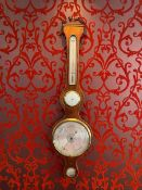 George the III barometer with clock with verge escapement. Maker Charles Pitsalla circa 1780 - Verge