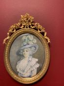 French portrait of Dorothy Blana 19th-century, signed Casway 1810