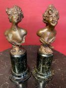 Bronze bust sculpture, signed, F. Iffland (German 1862-1935)
