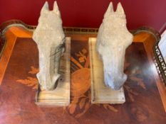 Two Chinese Moulded Horses Of Fine Quality