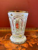 Bohemian crystal glass vase