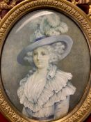 French portrait of Dorothy Blana 19th-century, signed Casway 1810.
