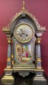 French silver gilt and ormolu clock, 19th-century