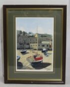 """Low Tide St Mary's"" Signed Boat Print Perry Framed"