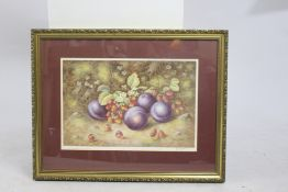 Signed Print H.Ayrton Worcester Fruit Framed