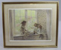 Large Geoffrey Robinson Signed Print Set in Gilt Frame
