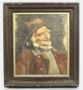 Antique Victorian Framed Watercolour of an Old Fisherman