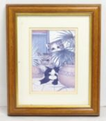 Framed Linda Jane Smith Cat Print