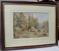 19th c. North American Landscape Watercolour