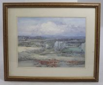 Impressionistic Landscape Print Set in Frame