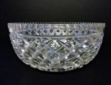 19th Century Georgian Cut Crystal Bowl