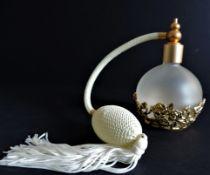Gilt Filigree & Glass Perfume Atomister