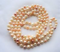 Peaches & Cream Hand Knotted Freshwater Pearl Necklace