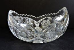 Bohemian Crystal Gondola Bowl 25cm Wide