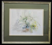 Original Watercolour Butterflies & Daisies Signed by Artist