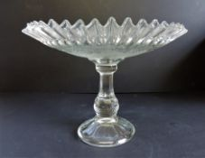 Antique Victorian Large Glass Cake Stand 29cm wide