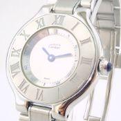 Cartier / Must De - Lady's Steel Wrist Watch