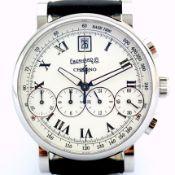 Eberhard & Co. / Chrono 4 Bellissimo 37 jewels - Gentleman's Steel Wrist Watch