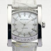 Bvlgari / AA44S Diamond - Gentleman's Steel Wrist Watch