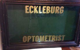 Eckleberg Optometrists Mahogany Display Cabinet Circa 1920