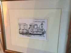 """John Bratby """"The Train that isn't true, Place du Tertre, 'La Butte'"""","""
