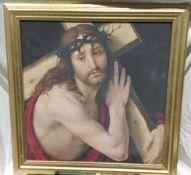 Historic Framed Print of Christ On The Cross