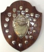 Large 1953 London Cycling Trophy Shield