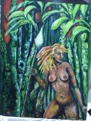 """""""Amazon Naked Lady With A Spear"""" Constantine"""