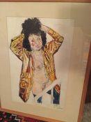 """John Bratby """"Patti In Gold Parka & Hat, 1991"""""""
